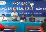 Khai giảng khoá đào tạo trọng tài futsal sơ cấp TPHCM 2017