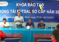 Thông báo mở khoá đào tạo trọng tài futsal sơ cấp TPHCM 2018