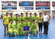 Nguyễn Văn Luông Q.6 và trường Năng khiếu TDTT gặp nhau trong trận chung kết giải futsal học sinh THCS năm 2017 - 2018, cúp Thái Sơn Nam lần 10