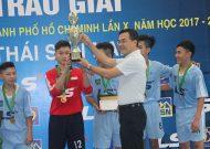 Trường Năng khiếu TDTT vô địch môn futsal THCS, giải thể thao học sinh TPHCM năm học 2017 - 2018, cúp Thái Sơn Nam lần 10