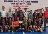 Tân Nhựt Bình Chánh vô địch giải futsal nữ THCS TPHCM năm học 2017 - 2018