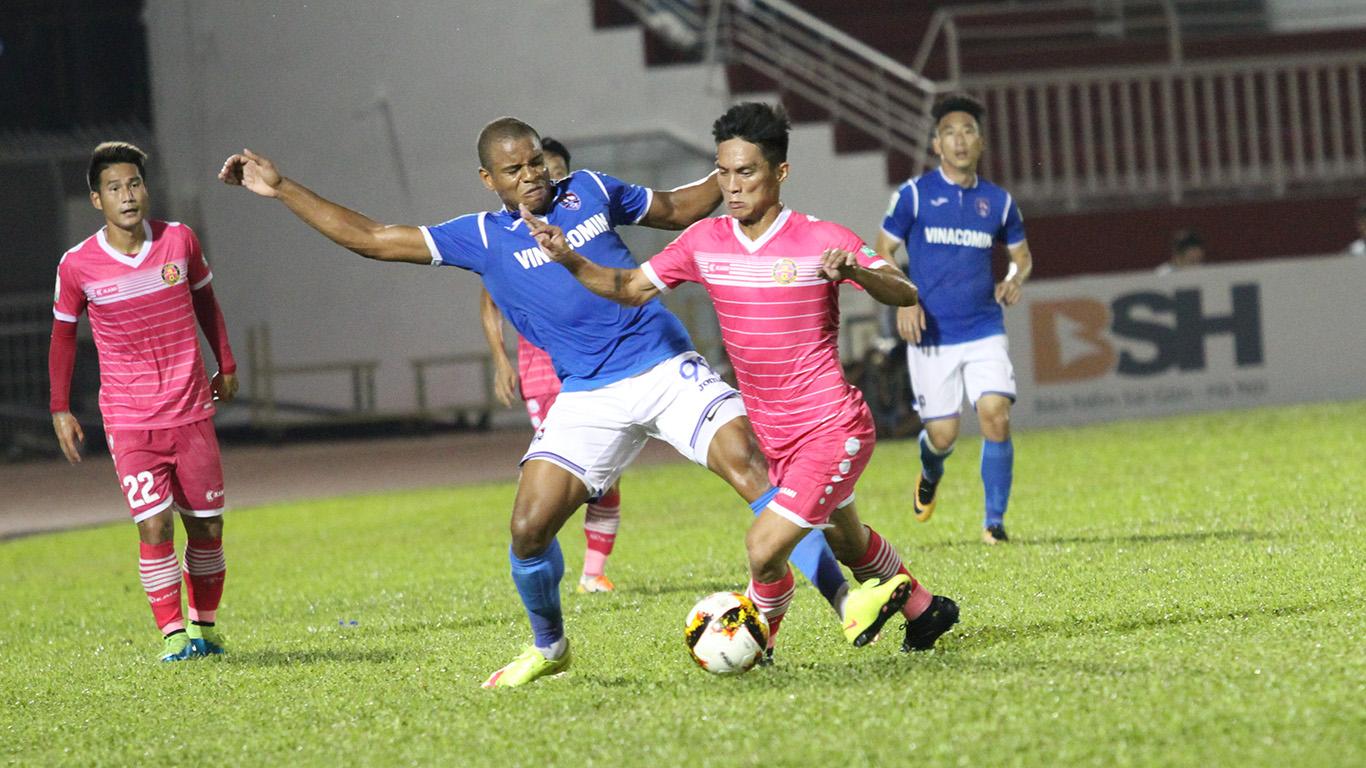 Sài Gòn FC và CLB TPHCM cùng thua ở vòng 2 Nuti cafe V-League 2018