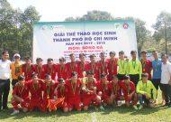 Đa Phước Bình Chánh vô địch giải thể thao học sinh TPHCM, môn bóng đá, khối THCS lớp 8 - 9