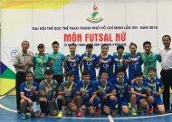 Quận 8 vô địch nội dung futsal nữ - Đại hội TDTT TPHCM 2018