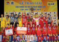 Phong Phú Hà Nam vô địch giải bóng đá nữ VĐQG - cúp Thái Sơn Bắc 2018