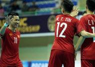 Đội tuyển futsal Việt Nam thắng đậm Brunei tại giải futsal Đông Nam Á 2018