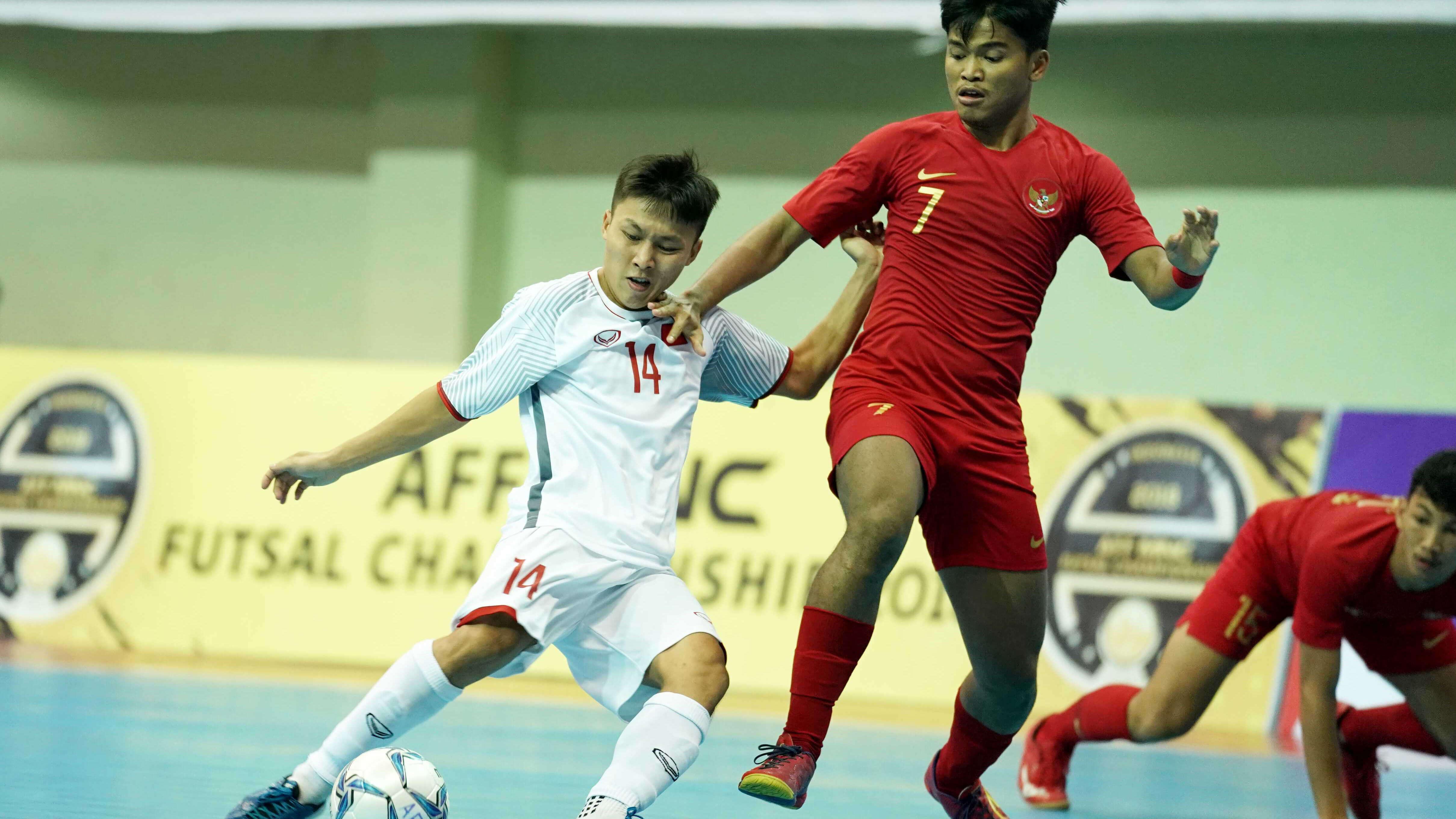 Đội tuyển futsal Việt Nam thua Indonesia ở trận tranh HCĐ giải Đông Nam Á 2018