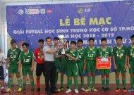 Nguyễn Thị Định vô địch giải futsal học sinh THCS TPHCM, năm học 2018 - 2019