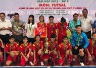 Văn Lang Q.1 vô địch giải futsal học sinh THCS TPHCM, năm học 2018 - 2019