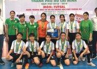 Trường Võ Văn Kiệt và Long Thới Nhà Bè gặp nhau trong trận chung kết giải futsal học sinh THPT nữ TPHCM, năm học 2018 - 2019