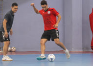 The player from Iran of Thái Sơn Nam futsal club has arrived in HCMC