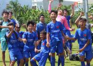 Nhiều trận cầu sôi nổi ngày khai mạc giải bóng đá thiếu niên U13 Yamaha Cup 2019