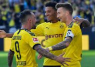 Reus scores twice as Dortmund crush Leverkusen