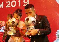 Hùng Dũng và Huỳnh Như giành Quả bóng vàng Việt Nam 2019