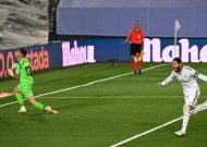 Ramos penalty sends Real four points clear