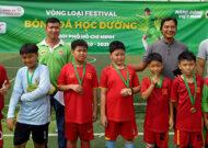 Festival bóng đá học đường quận 8 và quận 5 tại sân bóng C4 Phạm Hùng