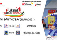 Lịch thi đấu futsal VĐQG HDBank 2021