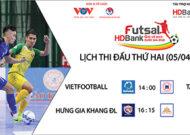 Lịch thi đấu vòng loại giải Futsal HDBank VĐQG 2021