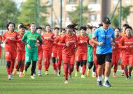 Đội tuyển Nữ Quốc gia hứng khởi trước giờ lên đường sang Tajikistan